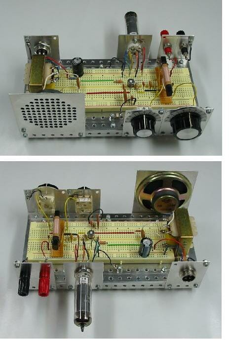 自作の真空管ラジオ