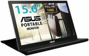 ASUS MB169B+ モバイルモニター モバイルディスプレイ 薄さ8mm・軽量800g、USBで簡単接続 15.6インチIPS フルHD USB3.0