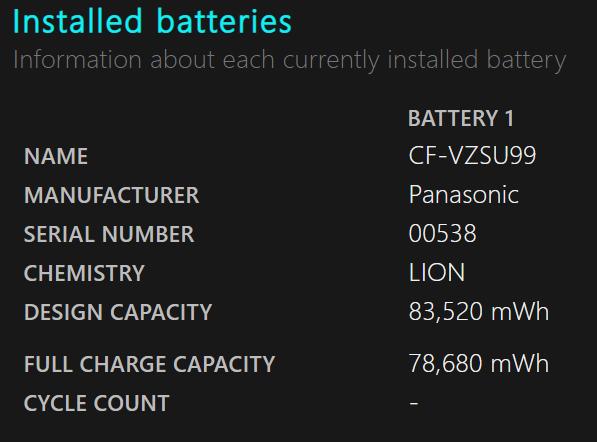 BatteryReport